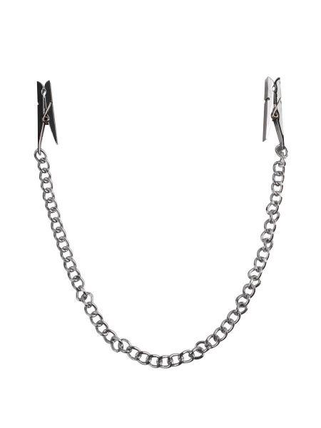 Fetish Fantasy Nipple Chain Clamps: Nippelklemmen, silber
