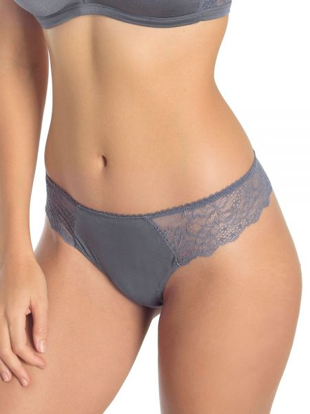 Sassa Bamboo & Lace: String, dusty grey