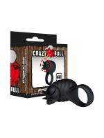 Crazy Bull Frances: Vibro Penisring, schwarz