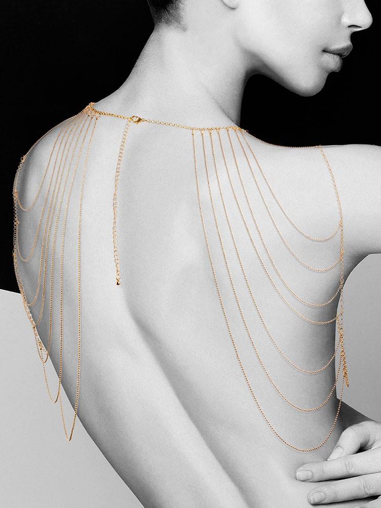Bijoux Indiscrets The Magnifique: Körperkette für Schultern und Rücken, gold