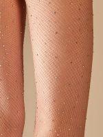 Netzstrumpfhose mit Glitzersteinen, haut