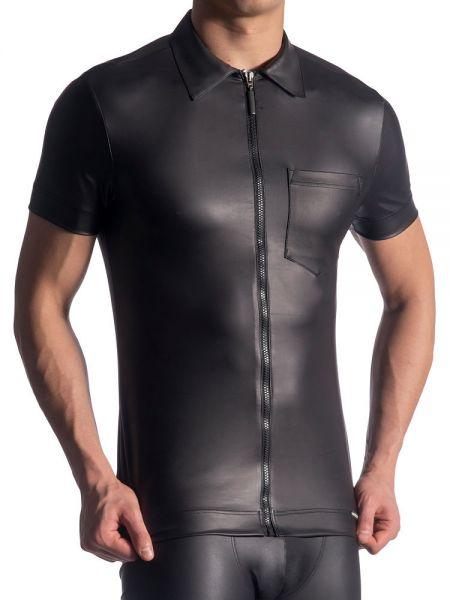 MANSTORE M510: Zipped Shirt, schwarz