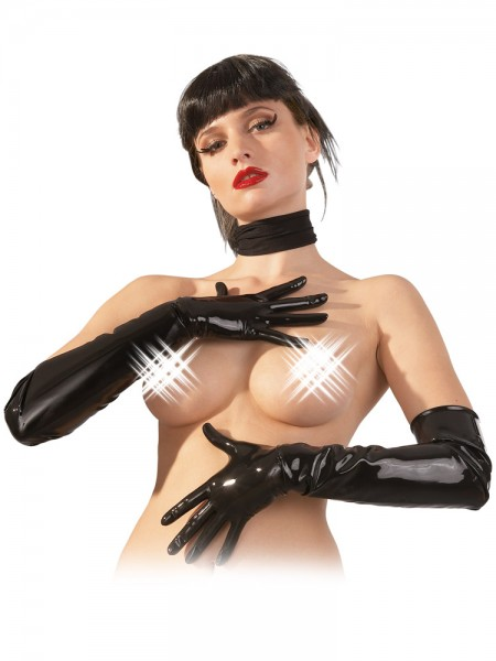 Latex-Handschuhe, schwarz