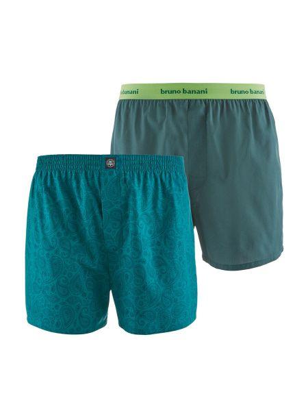 Bruno Banani OrnamentalMEN: Boxershort 2er Pack, smaragd paisley print/lorbeer