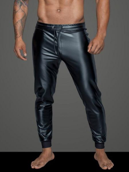 Noir Handmade: Wetlook-Treggings H063, schwarz