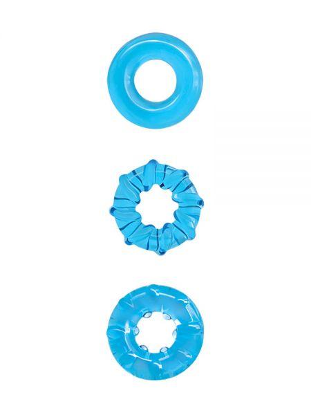 Renegade Dyno Rings: Cockring 3er Set, blau