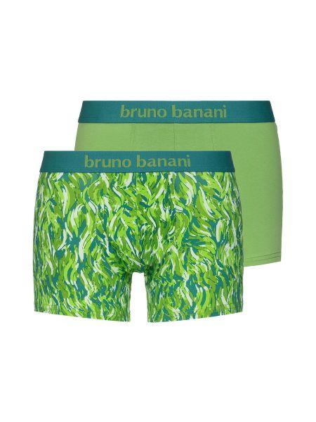 Bruno Banani Scratch: Short 2er Pack, grün/ecru-grün print