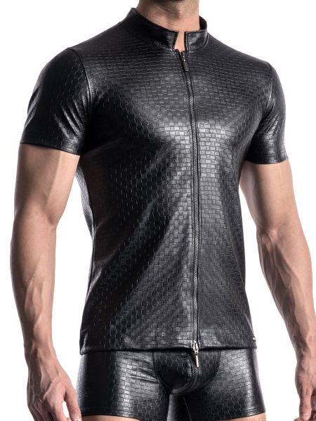 MANSTORE M956: Zipped Shirt, schwarz