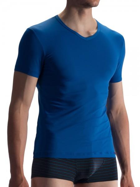 Olaf Benz RED1859: V-Neck-Shirt, blau