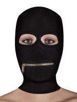 Ouch! Extreme Zipper Mask with Mouth Zipper: Kopfmaske, schwarz