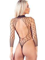 Netz-Stringbody, schwarz