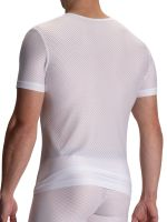 Olaf Benz RED2112: V-Neck-Shirt, weiß