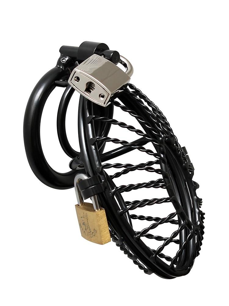 Rimba Metal Male Chastity Device: Metall Penis-Keuschheitskäfig, schwarz