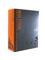 Maia Ethan: Vibro-Analplug-Set mit Fernbedienung, orange/anthrazit
