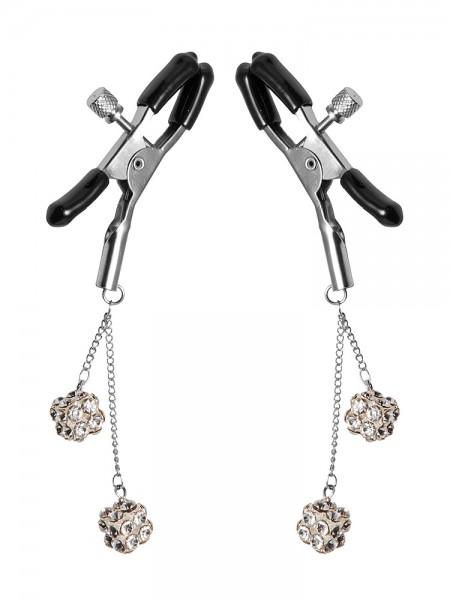Master Series Ornament Adjustable Nipple Clamps: Nippelklemmen, silber