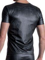MANSTORE M2112: V-Neck-Shirt, schwarz