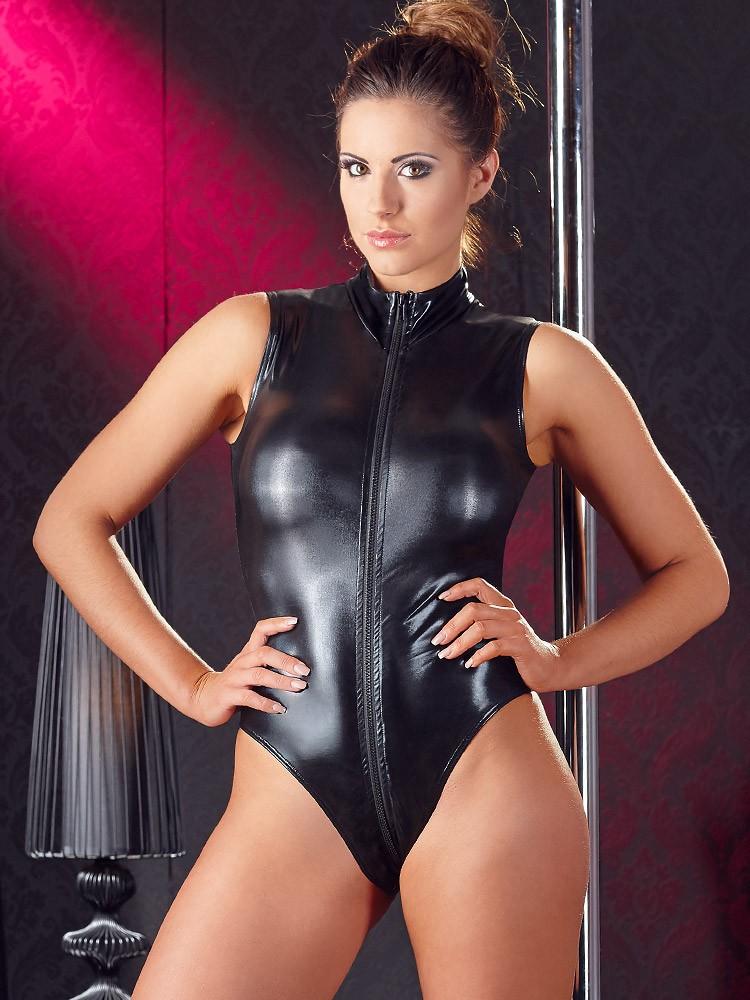 Cottelli Collection Wetlook-Body, schwarz