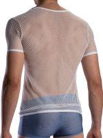 Olaf Benz RED1870: V-Neck-Shirt, weiß