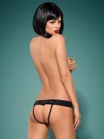 Obsessive Gretia: Ouvert-Panty, schwarz