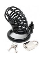 Metal Male Chastity Device: Metall Penis-Keuschheitskäfig, schwarz