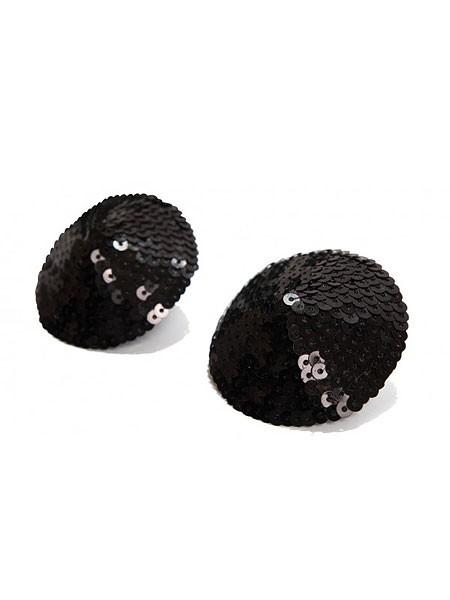 Bijoux Indiscrets Burlesque Sequin: Nipple Tassels, schwarz