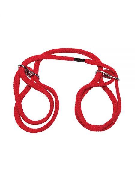 Japanese Style Cotton Cuffs: Bondage-Seil-Fessel, rot
