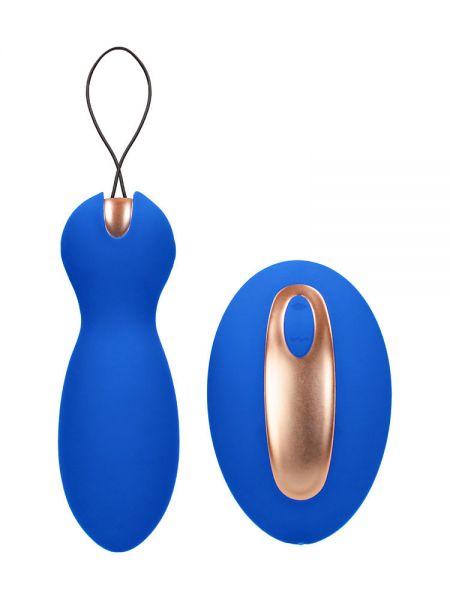 Elegance Purity: Vibro-Ei mit Vibro-Fernbedienung, blau