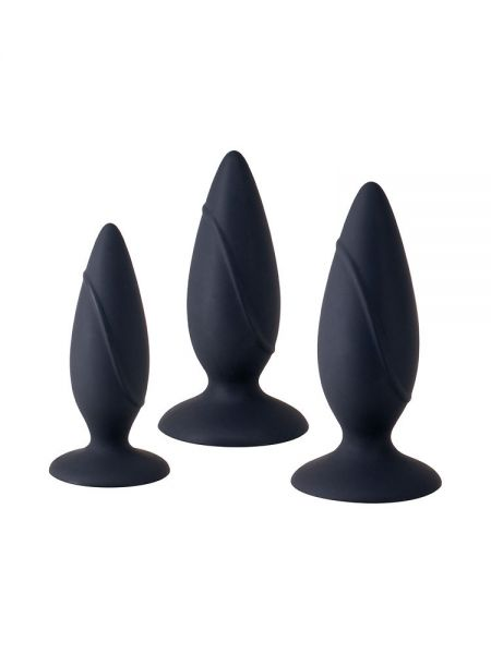 Essence Anal Training Set: Anal-Plug 3er-Set, schwarz