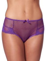 Spitzen-Panty mit Schnürung, lila