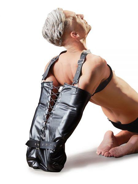 Kunstleder-Armsack, schwarz