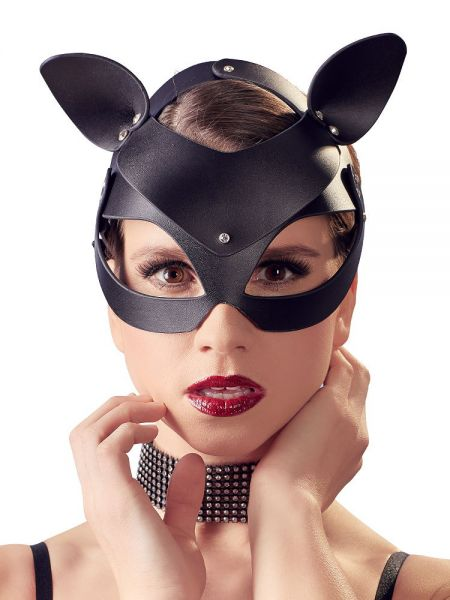 Bad Kitty Catmask Strass: Kopfmaske Katze, schwarz