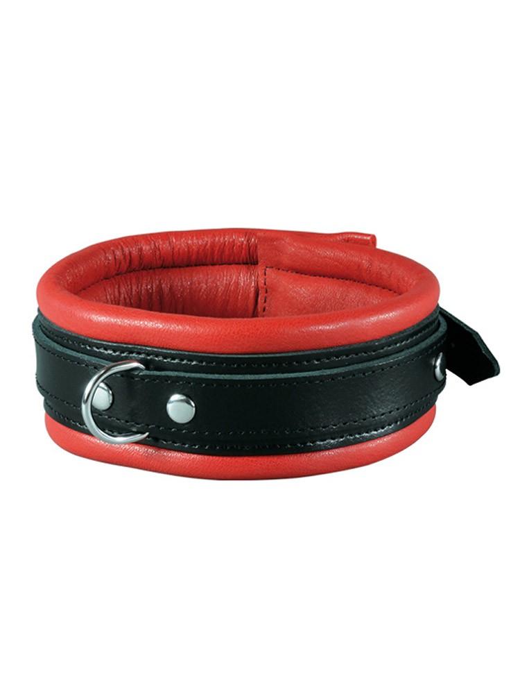 Stoys XxdreamSToys: Leder-Halsfessel, rot/schwarz