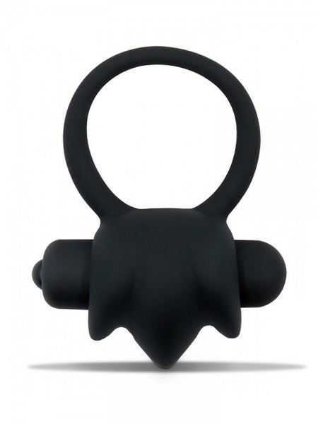 Mr. Cock The Bang Vibrating Silicone Cockring: Vibro-Penisring, schwarz