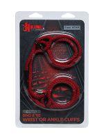 Kink Hogtied Bind & Tie Hamp Cuffs: Bondage-Seil-Fessel, rot