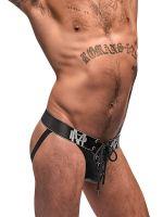 Male Power Black Ice: Lace Up Jock, schwarz