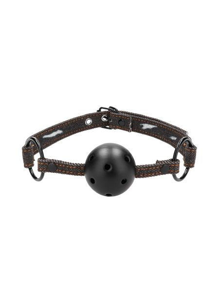 Ouch! Breathable Ball Gag: Mundknebel, jeans-schwarz