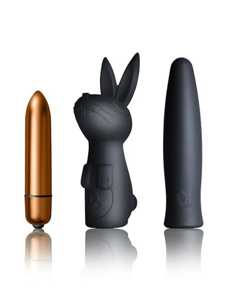 Rocks-Off Silhouette Dark Desires Kit: Vibro-Bullet-Set 3-teilig, schwarz/gold