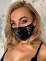 Noir Handmade: Maske Spitze, schwarz