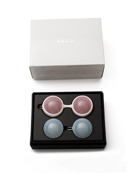 Lelo Luna Beads: Liebeskugel-Set, hellblau/rosa