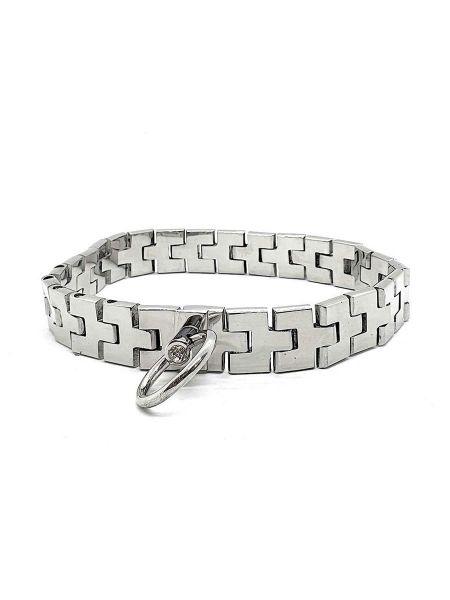 Black Label Watch Band Collar with Gem Lock: Edelstahl-Halsband