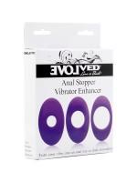 Anal Stopper Vibrator Enhancer: Zusatzringe für Vibratoren, lila
