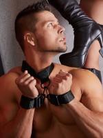 Hals-Handfesseln, schwarz