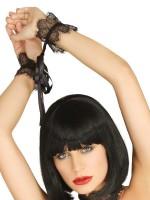 KINK: Ouvertbody mit Fesseln, schwarz/silber
