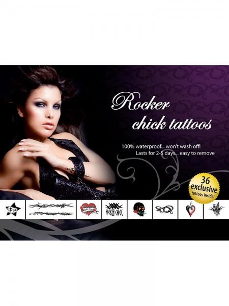 Tattoo-Set: Rocker Chick