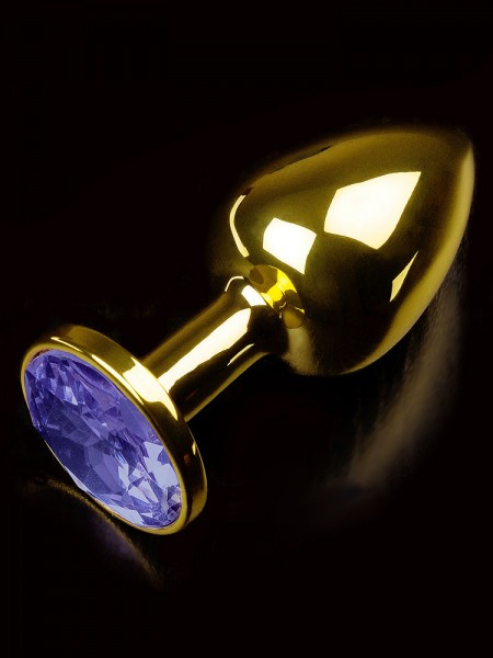 Dolce Piccante Jewellery Small: Edelstahl-Analplug, gold/blau
