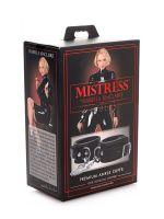 Premium Leather Ankle Cuffs: Knöchel-Lederfesseln, schwarz