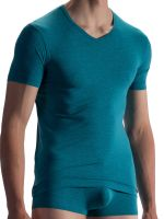 Olaf Benz RED1863: V-Neck-Shirt, azur