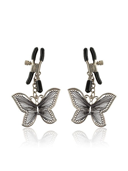 Fetish Fantasy Butterfly Nipple Clamps: Nippelklemmen, silber