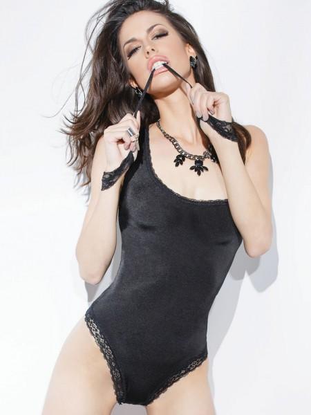 Coquette Body: Spellbound, schwarz/silber