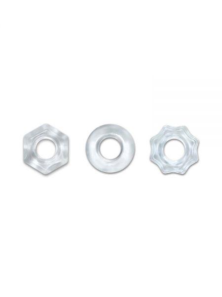 Renegade Chubbies: Penisringe-Set, transparent